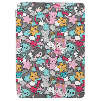 Pattern with kawaii doodle iPad air cover