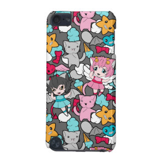 Pattern with kawaii doodle iPod touch 5G case
