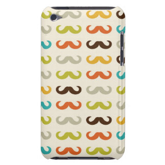 Pattern with mustache barely there iPod covers