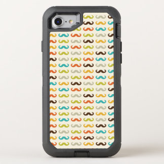 Pattern with mustache OtterBox defender iPhone 8/7 case