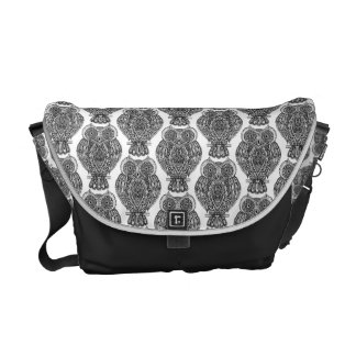 Pattern With Owls Doodle Courier Bag