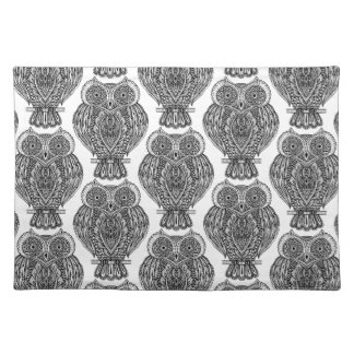 Pattern With Owls Doodle Placemat