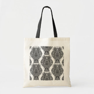 Pattern With Owls Doodle Tote Bag