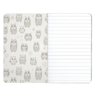 Pattern with owls journal