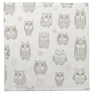 Pattern with owls napkin