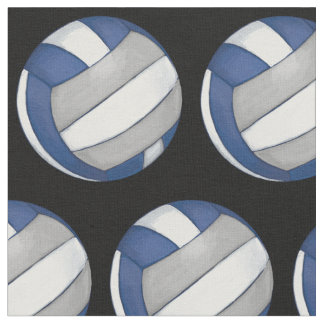 Pattern with Painted silver Volleyball Fabric