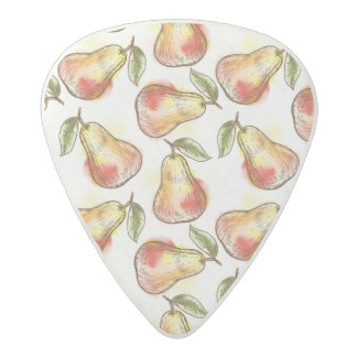 Pattern with pear acetal guitar pick