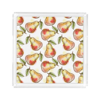 Pattern with pear acrylic tray