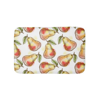 Pattern with pear bath mat