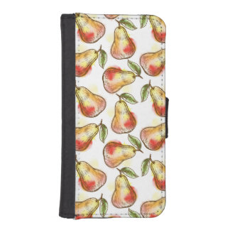 Pattern with pear iPhone SE/5/5s wallet case