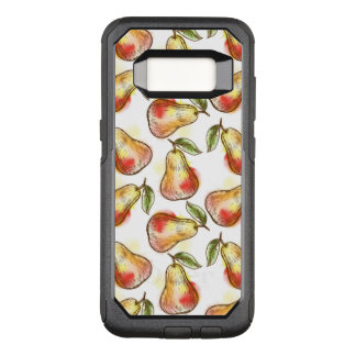 Pattern with pear OtterBox commuter samsung galaxy s8 case