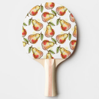 Pattern with pear ping pong paddle