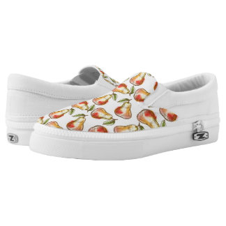 Pattern with pear printed shoes