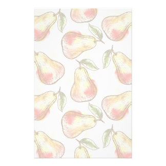 Pattern with pear stationery