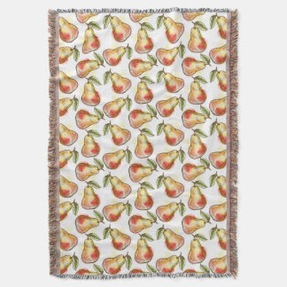 Pattern with pear throw blanket