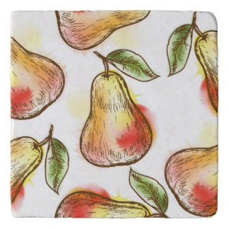Pattern with pear trivet