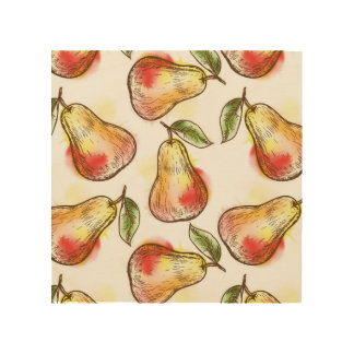 Pattern with pear wood wall art