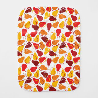 Pattern with pears burp cloth