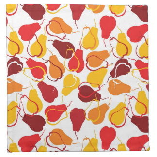 Pattern with pears napkin