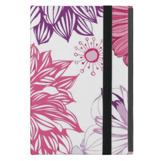 Pattern with pink asters and dahlia case for iPad mini