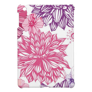 Pattern with pink asters and dahlia iPad mini case