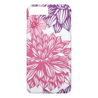 Pattern with pink asters and dahlia iPhone 8 plus/7 plus case