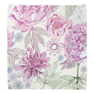Pattern with pink flowers bandana