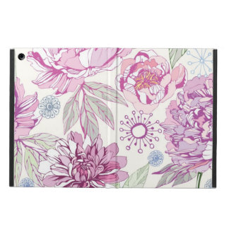 Pattern with pink flowers iPad air case