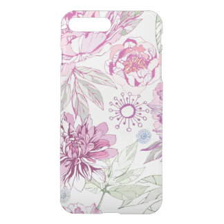 Pattern with pink flowers iPhone 8 plus/7 plus case