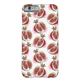 Pattern with pomegranate barely there iPhone 6 case