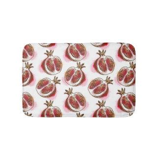 Pattern with pomegranate bath mat