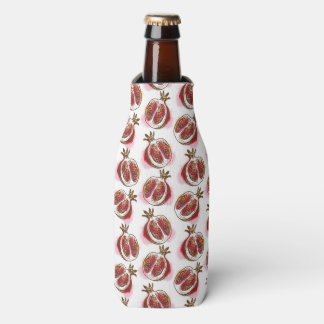 Pattern with pomegranate bottle cooler