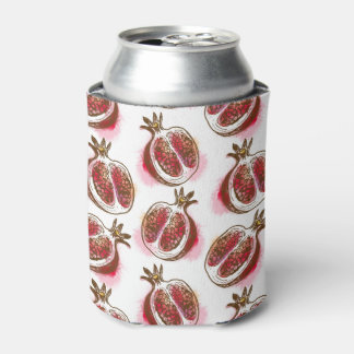 Pattern with pomegranate can cooler