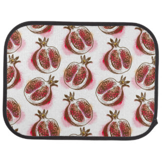 Pattern with pomegranate car mat