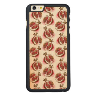 Pattern with pomegranate carved maple iPhone 6 plus case