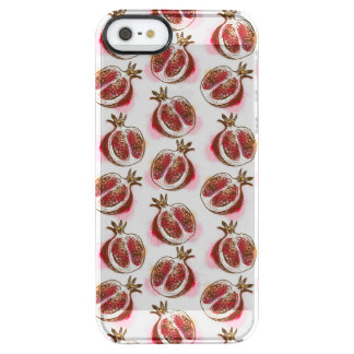 Pattern with pomegranate clear iPhone SE/5/5s case