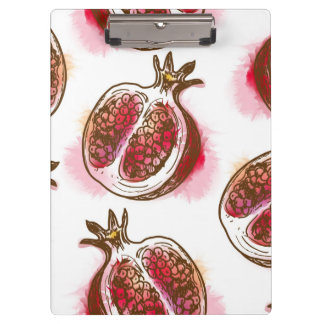 Pattern with pomegranate clipboard