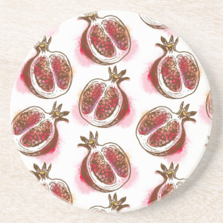 Pattern with pomegranate coasters