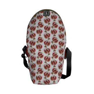 Pattern with pomegranate courier bag