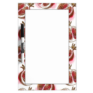 Pattern with pomegranate dry erase board