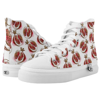 Pattern with pomegranate high tops
