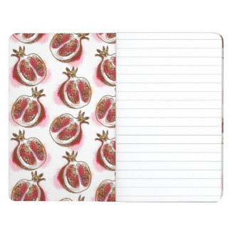 Pattern with pomegranate journals