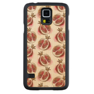 Pattern with pomegranate maple galaxy s5 slim case