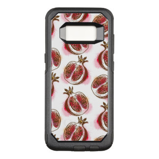 Pattern with pomegranate OtterBox commuter samsung galaxy s8 case