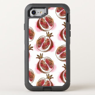 Pattern with pomegranate OtterBox defender iPhone 8/7 case