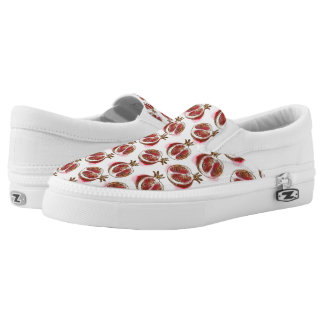 Pattern with pomegranate printed shoes