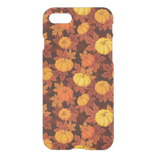 Pattern with pumpkins and autumn maple iPhone 8/7 case
