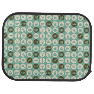 Pattern With Restaurant And Food Icons Car Mat
