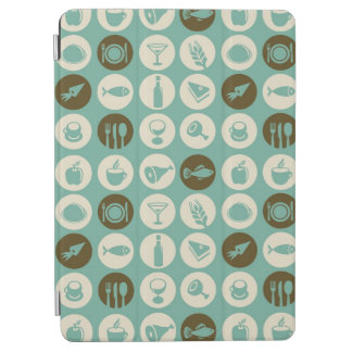 Pattern With Restaurant And Food Icons iPad Air Cover