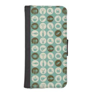 Pattern With Restaurant And Food Icons iPhone SE/5/5s Wallet Case